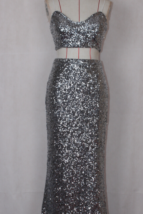 FASHION SHINING SEQUINS SILVER HOT DRESS