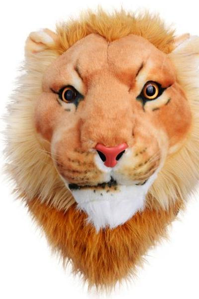 2015 New fashion Big size Fashion 3D Lion Head Plush Bag Backpack