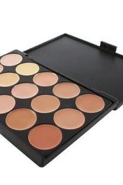 G0312 1 PCS 15 Color Neutral Makeup Eyeshadow Camouflage Facial Concealer Palette