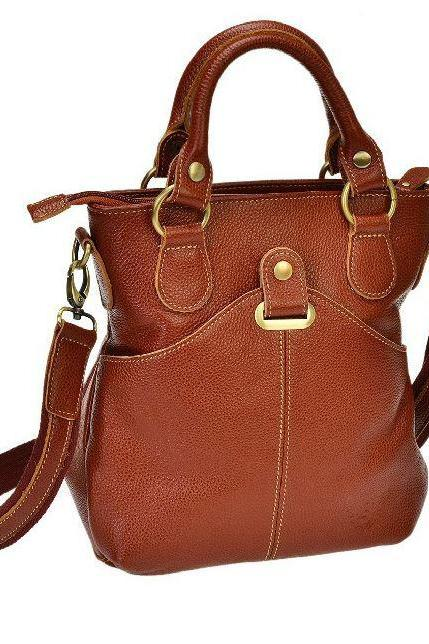 Brown Bag Genuine Leather Handbags Luxury Brown Multipurpose Leather Tote Bags