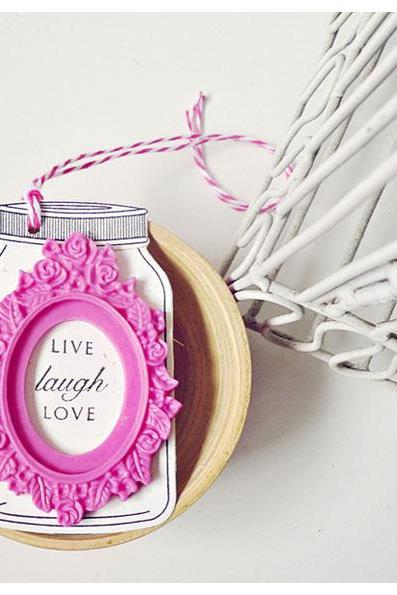 Live Laugh Love Jar Tags