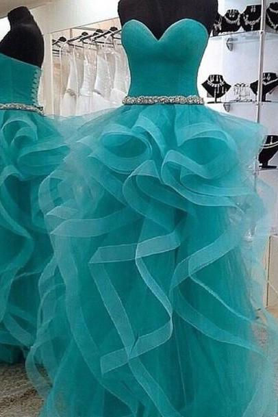 Custom Made Long Sweetheart Neck Prom Dresses, Formal Dresses, Dress for Party