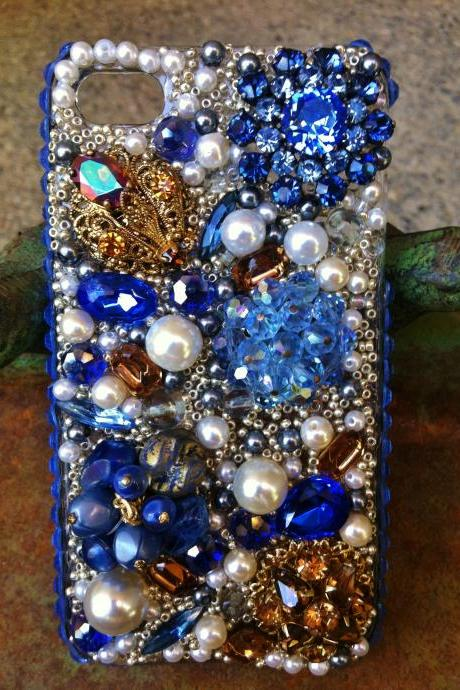 Stunning Blue, Vintage iPhone 4/4s cover
