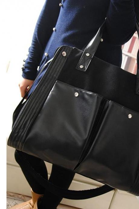 2015 New fashion Vintage Pure Color Canvas Handbag&Shoulder Bag