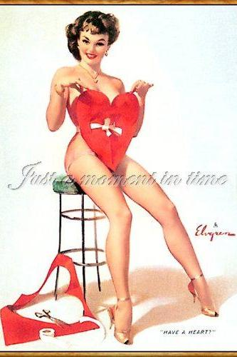 2036 Digital download 1950s glamour shot have a heart!