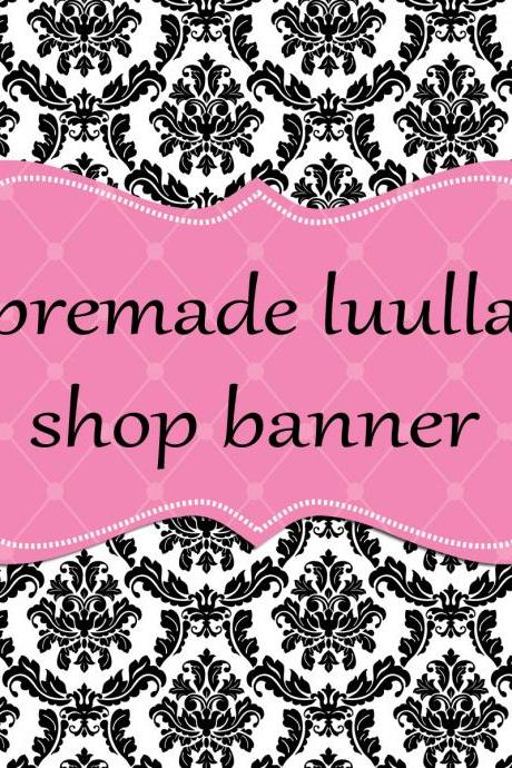 Black Damask Luulla Banner Set