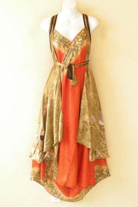 E530 Vintage Silk Magic 36' Length Long Wrap Skirt Halter Tube Maxi Dress + DVD