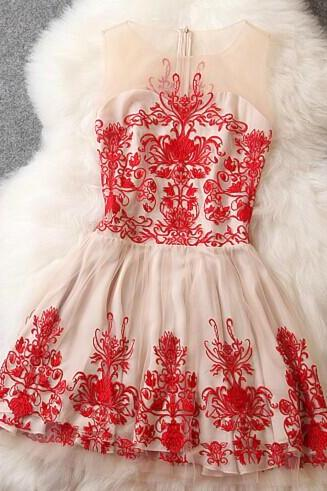 Embroidery Elegant Dress