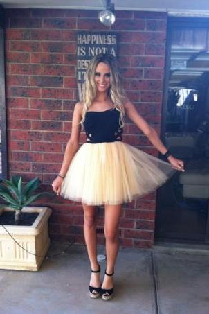 Sweetheart Strapless A line Short Prom Dresses, Homecoming Dresses
