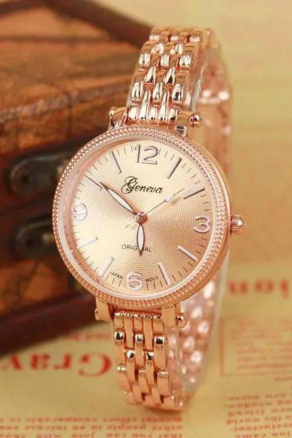 Stylish metal alloy watch, rosy golden metal alloy watch, metal watch, bracelet watch, vintage watch, retro watch, woman watch, lady watch, girl watch, unisex watch, AP00299
