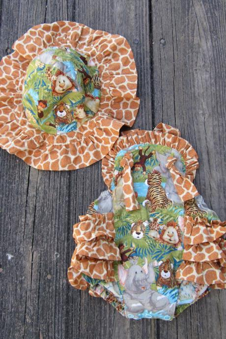 Baby girls ruffled back romper Size 3 to 6 month