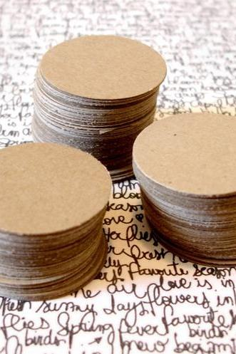 1 inch kraft circles embellishment garland small die cut circles 200 count