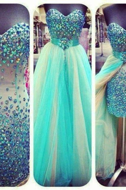 Sexy Colored Crystal Rhinestones Removable Skirt Sheath Long Prom Dress ,Heavy Beadings Green Champagne Long Evening Prom Gown Homecoming Dress