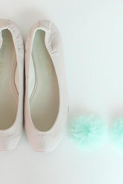 Mint Bridal Shoe Clips,Shoe Clips,Wedding Clips, Bridal Shoe Accessories,wedding shoes corsage,shoeclip