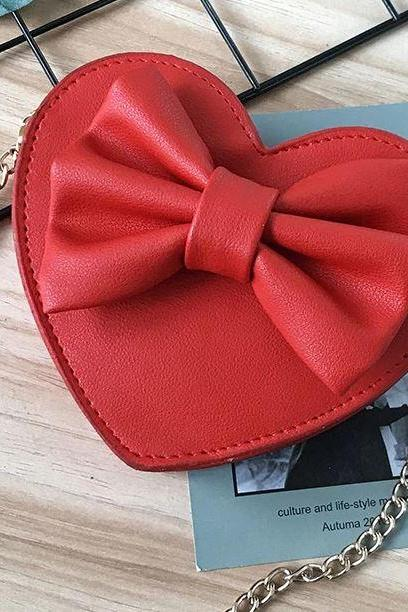Heart Purses for Women Small Red bag with Bow Heart of the Hearts