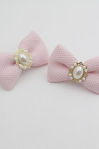 Pink Bridal Shoe Clips,Shoe Clips,Wedding Clips, Bridal Shoe Accessories,wedding shoes corsage,ribbon shoes clip,shoeclip