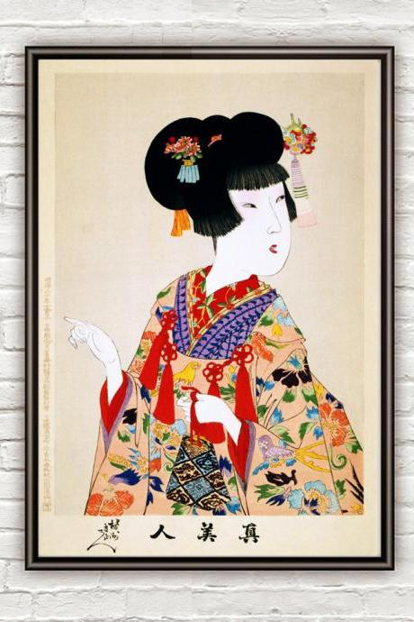 Japanese Art, Chikanobu True beauty, 1897
