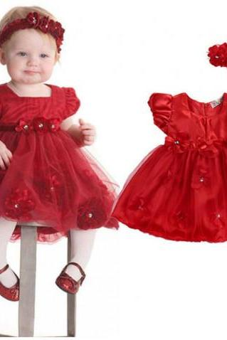 new matching set red newborn girls red tutu dress with matching red floral headband rhinestones patchworks