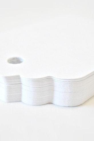 White merchandise gift tags 2 1/2 dozen