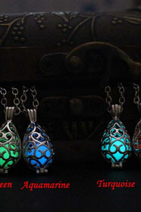 Free Shipping Water Drop Glowing Necklace, Birthday Gifts, Gifts for Her