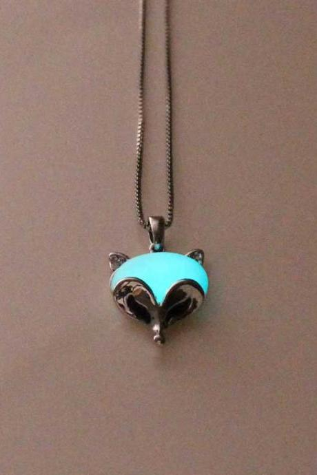 Free Shipping Fox Glowing Necklace,Gifts For Him,Gifts For Her,Birthday Gifts