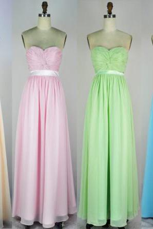 The charming Bridesmaid Dresses,Sweetheart Floor-Length Bridesmaid Dresses, Chiffon Bridesmaid Dress, Bridesmaid Dresses