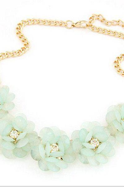 Fresh summer flowers woman fashion neckalce