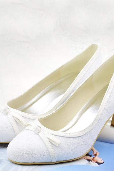 New Arrival White Lace Bridal Wedding,Party Dress, Bridal Shoe,Woman shoes,wedding shoes