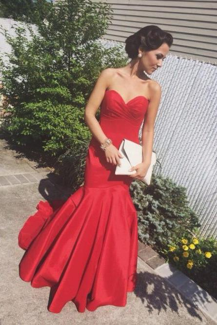 Pd06151 Charming Prom Dress,Satin Prom Dress,Mermaid Prom Dress,Sweetheart Prom Dress,Noble Prom Dress