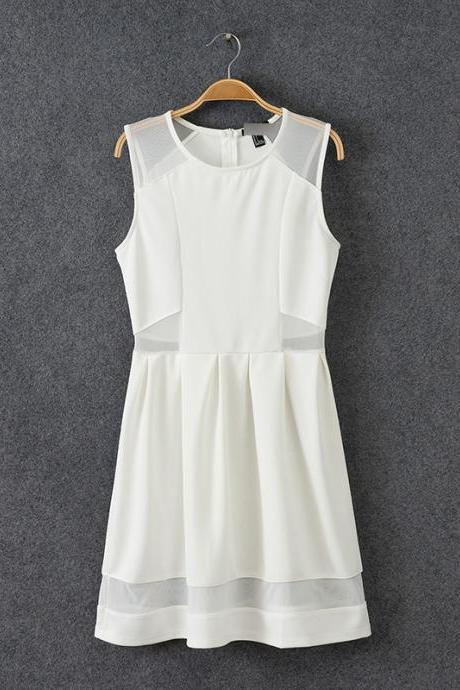 New Arrival White/Black O-Neck Summer woman Dress,Fashion Dress ,TB-014