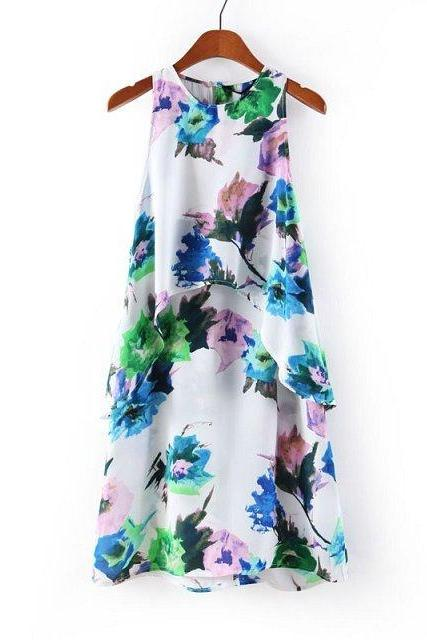 New Arrival Chiffon Flower Summer woman Dress,Fashion Dress ,TB-17