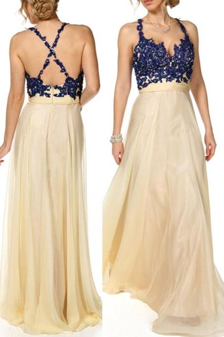 Sexy Prom Dress A-Line Prom Dress Sweetheart Prom Dress Appliques Prom Dress Chiffon Long Prom Dress
