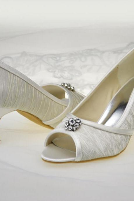 New Arrival Bridal Wedding shoes,Satin Party Dress, Bridal Shoe,Woman shoes,wedding shoes L-12026