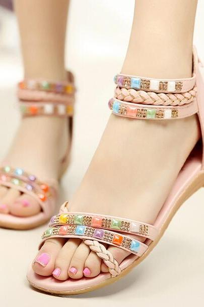 Diamond Antiskid Flat Sandals