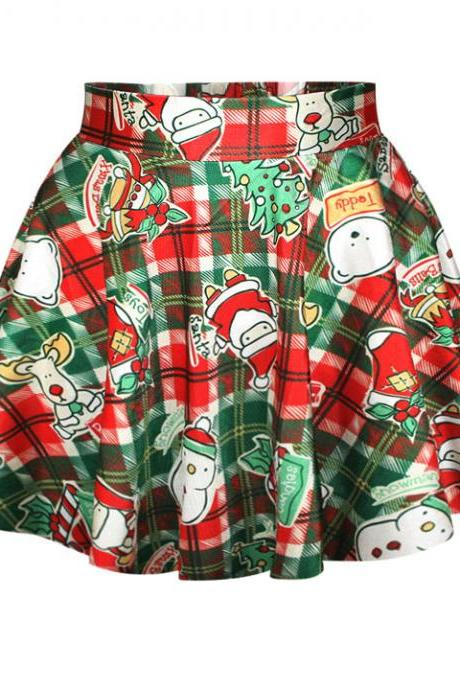 New Women's Fashion Sexy Lovely Christmas Santa Short Skirt Mini Dress