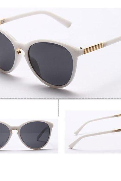 Vintage beach unisex summer white fashion sunglasses