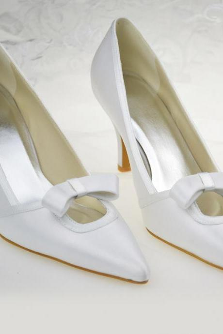 New Arrival Bridal Wedding shoes with bow,Party Dress, Bridal Shoe,Woman shoes,wedding shoes