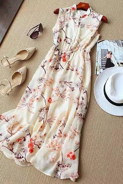 New Arrival Long Charming Summer woman Dress,Chiffon Summer Clothing,Fashion Dress ,TB-25