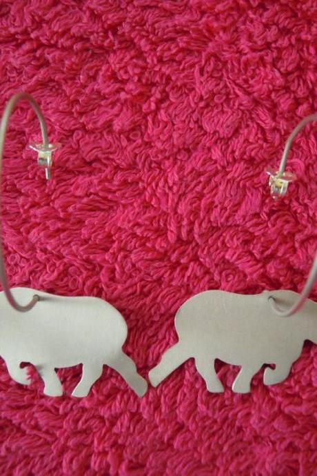 Rhinos Hoop Earrings