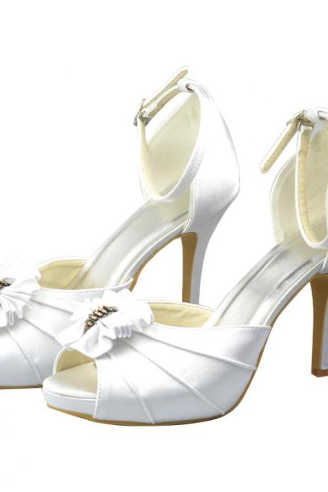 New Fashion Simple Bridal Wedding shoes,The Charming Party Dress with bow, Bridal Shoe,Woman shoes,wedding shoes
