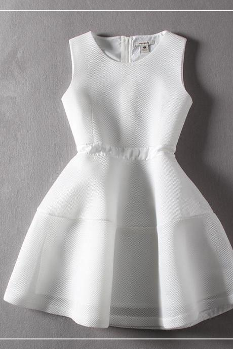 New Arrival White Charming Summer woman Dress,Summer Clothing,Fashion Dress ,TB-27