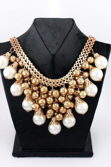 Statement handmade wedding night fashion woman necklace