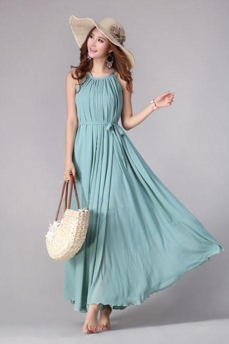 Sundress Boho Long Maxi Dress Holiday Beach Dress Plus Size Available Small