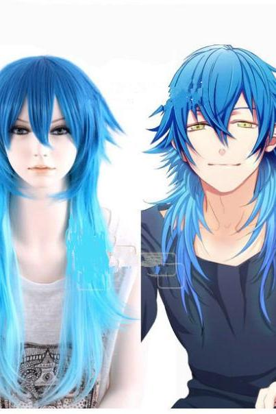Dramatical Murder Aoba Segaraki Mixed Blue Long Anime Cosplay Wig