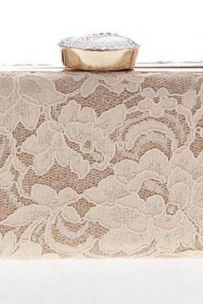 Ready for Shipping Ivory Lacy Purse for Women Ivory Clutch for Women Evening Bags for Prom Parties