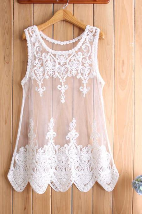 Lace Flower Blouse