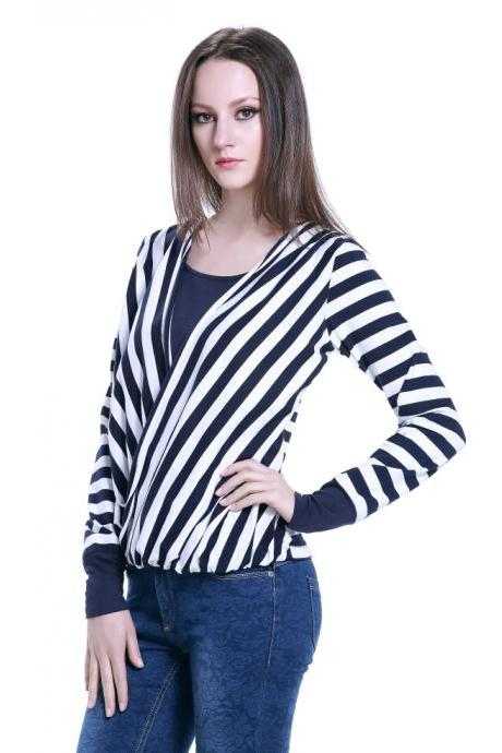 Diagonal Stripes Off Two Casual Shirts