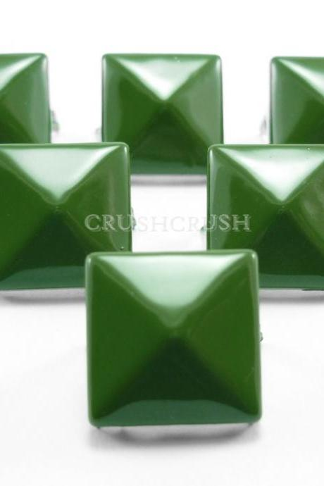 50x13mm Army Green COLOR PYRAMID Studs Spikes spots S3113
