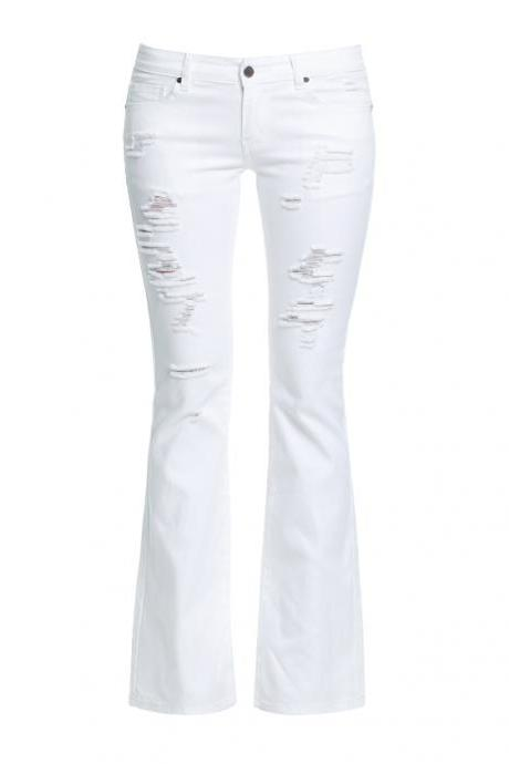 Ladies' High Waist Knife-Like Denim Pants