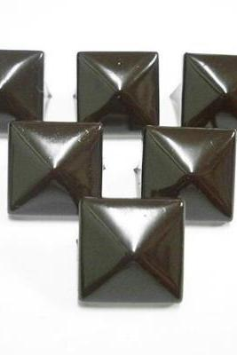 50pcs 1/2inches BROWN PYRAMID Studs Punk Rock Biker Spikes spots S1813